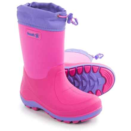 Kamik Stormin' Rain Boots (For Little and Big Kids) in Magenta - Closeouts