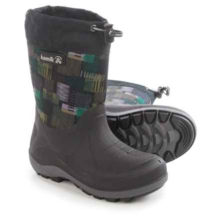 Kamik Stormin2 Rain Boots (For Little and Big Kids) in Black/Green - Closeouts