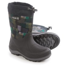 Kamik Stormin2 Rain Boots - Waterproof, Insulated (For Toddlers) in Black/Green - Closeouts