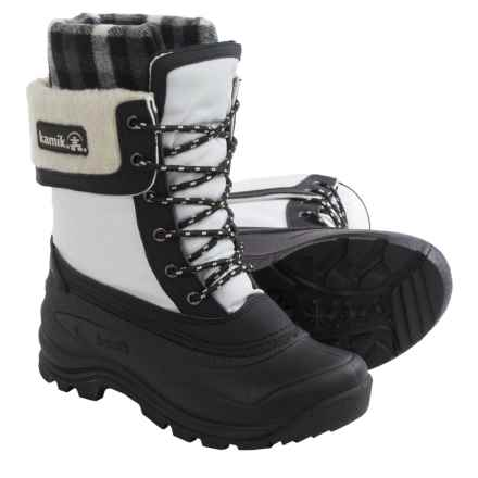 Kamik Sugarloaf Pac Boots - Waterproof, Insulated (For Women) in White - Closeouts