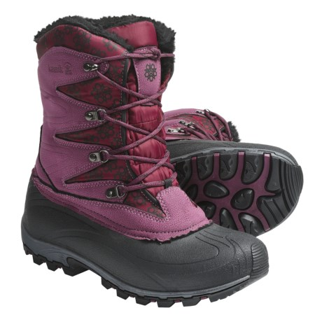 Kamik Sunapee Pac Boots - Waterproof, Insulated (For Women) in Burgundy