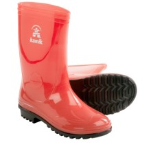 Kamik Sunshower Rain Boots - Waterproof (For Kids) in Coral - Closeouts