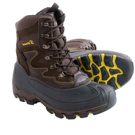 Kamik Thinsulate® Blackjack Snow Boots - Waterproof, Insulated (For Men) in Dark Brown - Closeouts