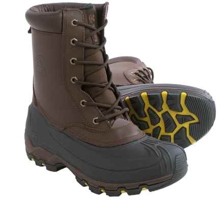 Kamik Thinsulate® Habitant Snow Boots - Waterproof (For Men) in Dark Brown - Closeouts