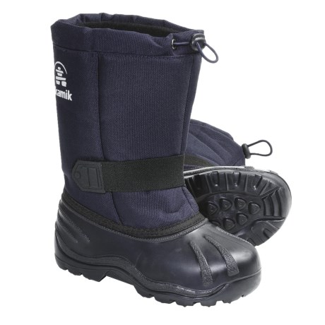 Kamik Tickle Snow Boots - Waterproof, Insulated (For Kid Boys and Girls) in Navy