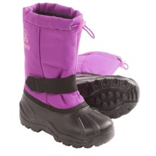 Kamik Tickle Snow Boots - Waterproof, Insulated (For Youth Boys and Girls) in Violet - Closeouts