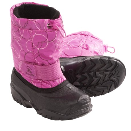 Kamik Tickle4 Winter Pac Boots - Waterproof (For Kids) in Pink