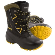 Kamik Topdog Pac Boots - Waterproof (For Kids) in Black - Closeouts