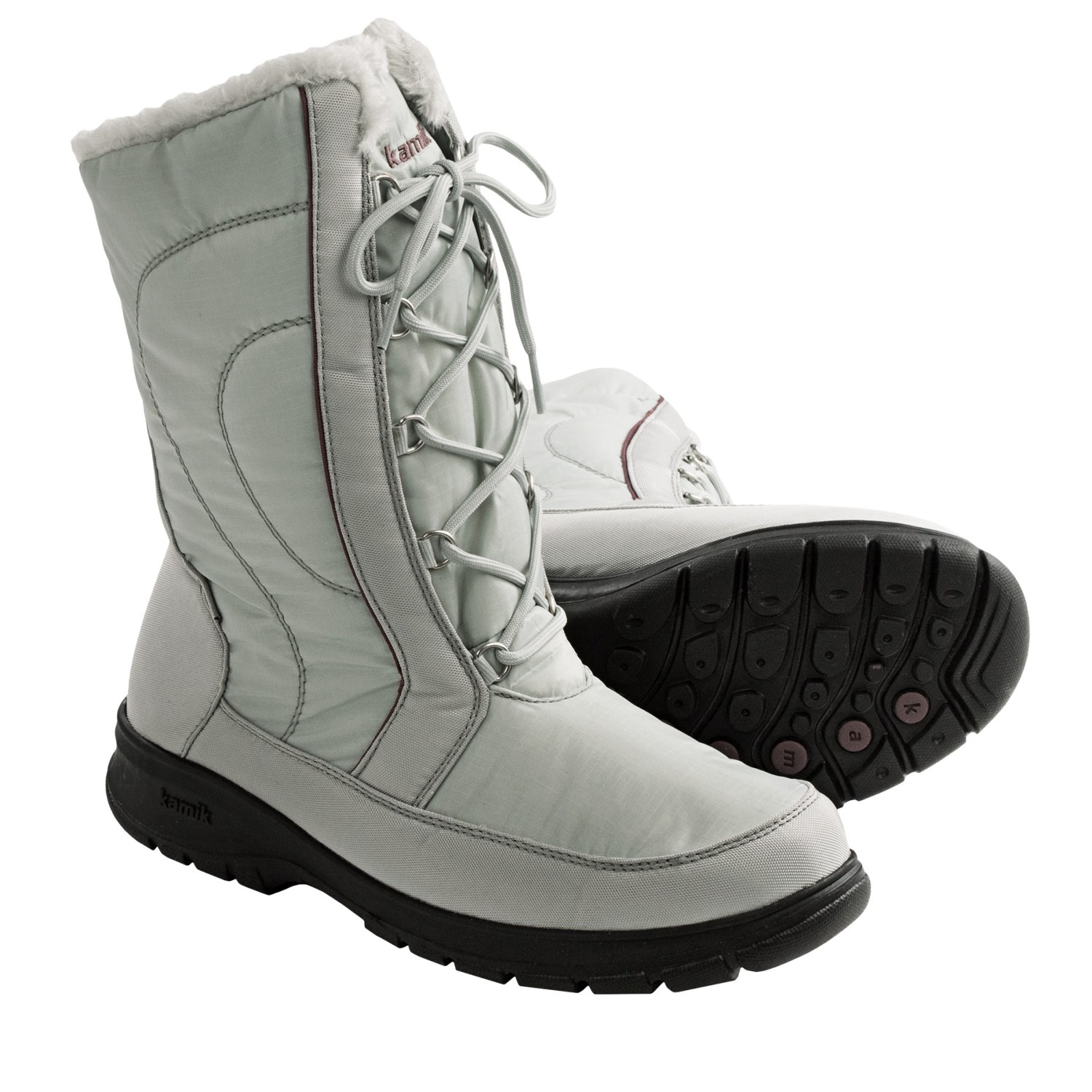 Vienna2 Snow Boots - Waterproof, Insulated (For Women) in Light Grey
