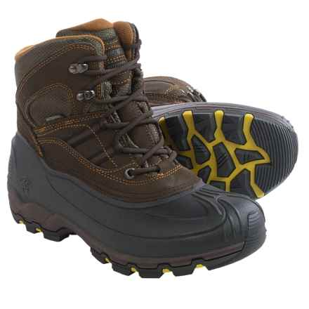 Kamik Warrior Snow Boots - Waterproof, Insulated (For Men) in Dark Brown - Closeouts