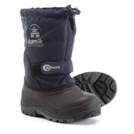 Kamik Waterbug 5 Pac Boots - Waterproof, Insulated (For Boys) in Dark Navy - Closeouts