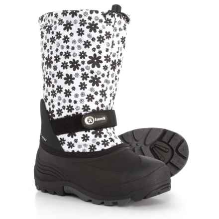 Kamik Waterbug 5 Pac Boots - Waterproof, Insulated (For Girls) in White - Closeouts