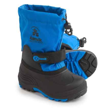 Kamik Waterbug Winter Boots (For Toddlers) in Blue - Closeouts