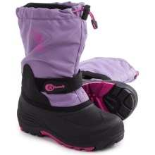 Kamik Waterbug5  Pac Boots - Waterproof, Wide Width, Insulated (For Little and Big Kids) in Lavander - Closeouts