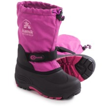 Kamik Waterbug5  Pac Boots - Waterproof, Wide Width, Insulated (For Little and Big Kids) in Vivid Viola - Closeouts