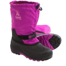 Kamik Waterbug5 Winter Boots - Waterproof (For Little and Big Kids) in Viola - Closeouts