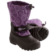 Kamik Waterbug6 Winter Boots - Waterproof (For Little Girls) in Plum - Closeouts