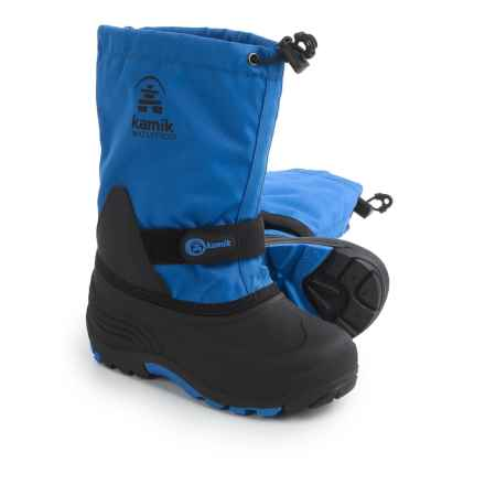 Kamik WaterbugW Pac Boots - Waterproof, Insulated (For Little and Big Kids) in Blue - Closeouts