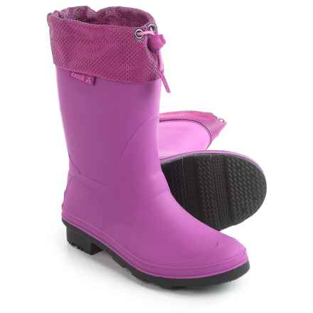 Kamik Waterfight Rain Boots - Waterproof (For Little and Big Kids) in Viola - Closeouts
