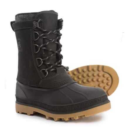 Kamik William Pac Boots - Waterproof, Insulated, Leather (For Men) in Black - Closeouts