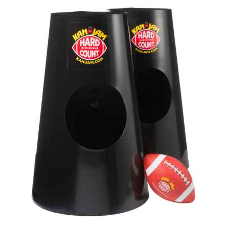Kan Jam Hard Count Football Game in Black/White/Brown - Closeouts