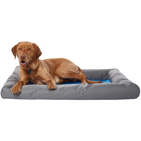"K&H Pet Products K&H Pet Cool Pet Bed III Deluxe Pet Bed with Bolster - 31x41"" in Blue/Gray"
