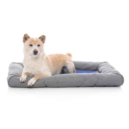 """K&H Pet Products K&H Pet Cool Pet III Deluxe Pet Bed with Bolster - 25x32"""" in Blue/Gray - Closeouts"""