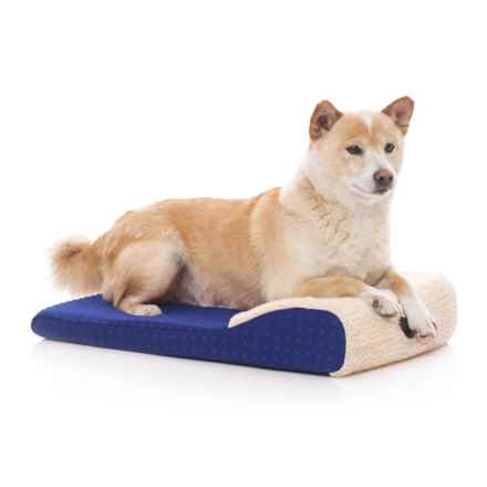 """K&H Pet Products K&H Pet Ultra Memory Chaise Lounger Pet Bed - 14x22"""" in Blue - Closeouts"""