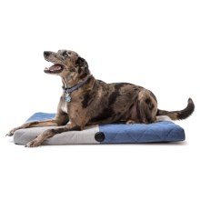 """K&H Pet Quilted Memory Dream Dog Bed - Medium, 37x27"""" in Blue/Gray - Closeouts"""