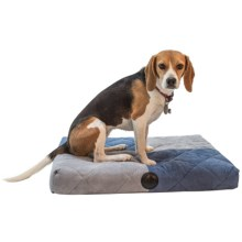 """K&H Pet Quilted Memory Dream Dog Bed - Small, 25x19.5"""" in Blue/Gray - Closeouts"""