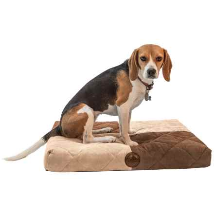 """K&H Pet Quilted Memory Dream Dog Bed - Small, 25x19.5"""" in Chocolate/Tan - Closeouts"""