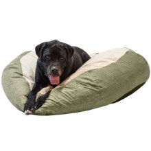"""K&H Pet Self-Warming Cuddle Ball Dog Bed - Large, 48"""" Round in Green - Closeouts"""