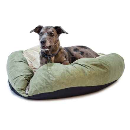 """K&H Pet Self-Warming Cuddle Ball Dog Bed - Medium, 38"""" Round in Green - Closeouts"""