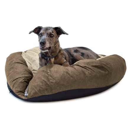 "K&H Pet Self-Warming Cuddle Ball Dog Bed - Medium, 38"" Round in Tan - Closeouts"