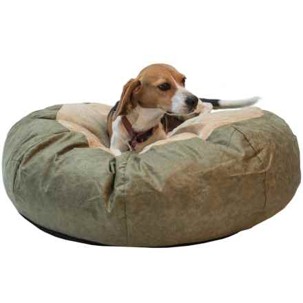 "K&H Pet Self-Warming Cuddle Ball Dog Bed - Small, 28"" Round in Green - Closeouts"