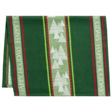 Kane Home 'Tis The Season Kitchen Towel - Jacquard in Holiday Trees - Closeouts