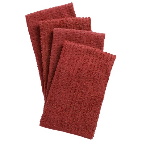 Kane Home Bar Mop Dish Towels - 4-Pack in Red