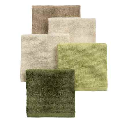 Kane Home Bar Mop Dishcloths - Set of 5 in Natural - Closeouts