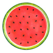 """Kane Home Dinner Plate - Melamine, 11"""" in Watermelon - Closeouts"""