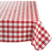 "Kane Home Eco Vinyl Tablecloth - 52x70"" in Red Check - Closeouts"
