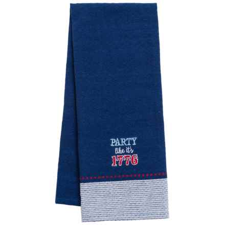 Kane Home Embroidered Cotton Dish Towel in 1776 Party - Closeouts