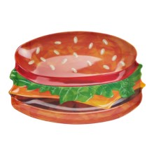 Kane Home Melamine Hamburger Platter in Hamburger - Closeouts