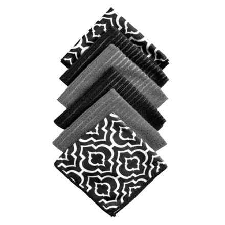 Kane Home Microfiber Dishcloths - Set of 6 in Gazebo Black - Closeouts