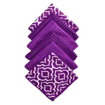 Kane Home Microfiber Dishcloths - Set of 6 in Gazebo Purple - Closeouts
