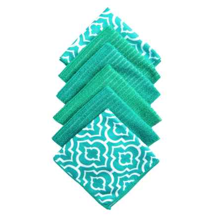 Kane Home Microfiber Dishcloths - Set of 6 in Gazebo Teal - Closeouts