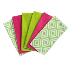 Kane Home Microfiber Geometric Dishcloths - Set of 6 in Lime Pop - Closeouts