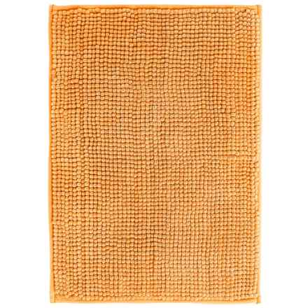 "Kane Home Microfiber Popcorn Bath Rug - 17x24"" in Bright Orange - Closeouts"