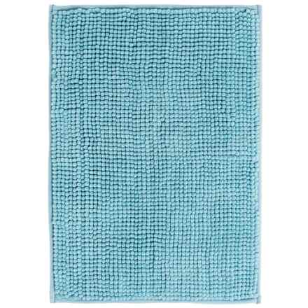 "Kane Home Microfiber Popcorn Bath Rug - 17x24"" in Cameo Blue - Closeouts"