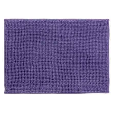 "Kane Home Microfiber Popcorn Bath Rug - 17x24"" in Purple - Closeouts"