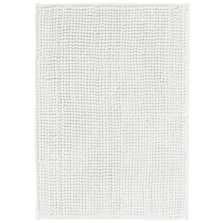 "Kane Home Microfiber Popcorn Bath Rug - 17x24"" in White"